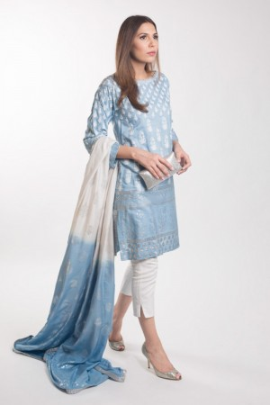 POWDER BLUE KAMEEZ