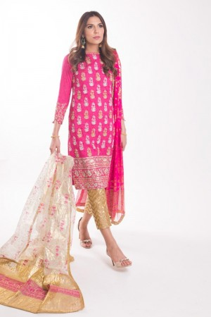 HOTPINK AND TURQUOISE KAMEEZ