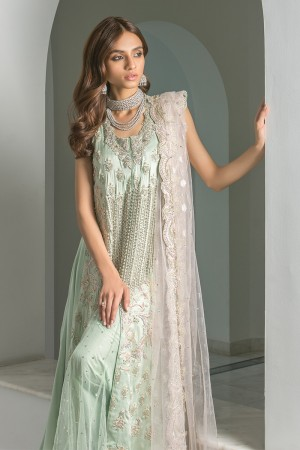 MINT GREEN CHARMEUSE KAMEEZ